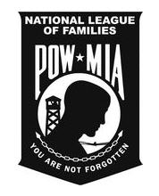 Banner of the National League of POWMIA Families